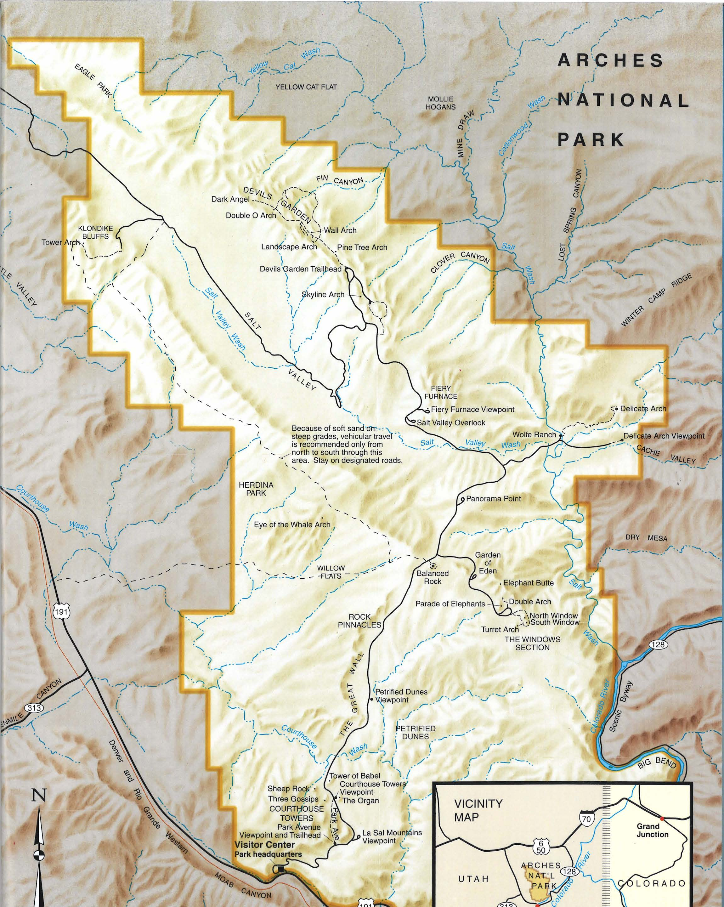 Moab UT: Arches National Park - FAB Senior Travel Map Arches National Park on amistad national recreation area map, death valley map, chamizal national memorial map, zion national park trail map, redwood national and state parks map, denali national park and preserve map, city of rocks national reserve map, moab map, monument valley map, devils garden map, antelope canyon map, lake clark national park and preserve map, bering land bridge national preserve map, hawaii volcanoes national park map, grand canyon map, canyonlands national park road map, arizona map, bryce canyon map, sequoia national park map, national park of american samoa map,